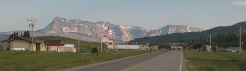 U.S. Route 89, in Babb, Montana