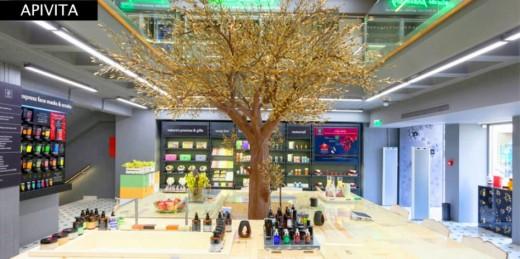 Apivita Experience store in Kolonaki.