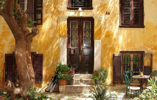 Athens old district of Plaka and the most beautiful.