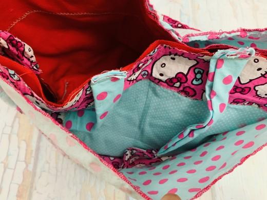 Put the outer bag inside the inner bag.