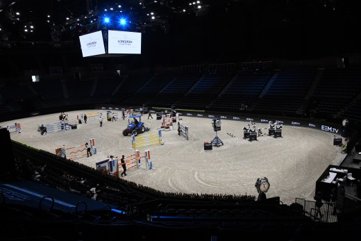 The indoor arena where all the action takes place.