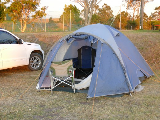 Camping is an accommodation option