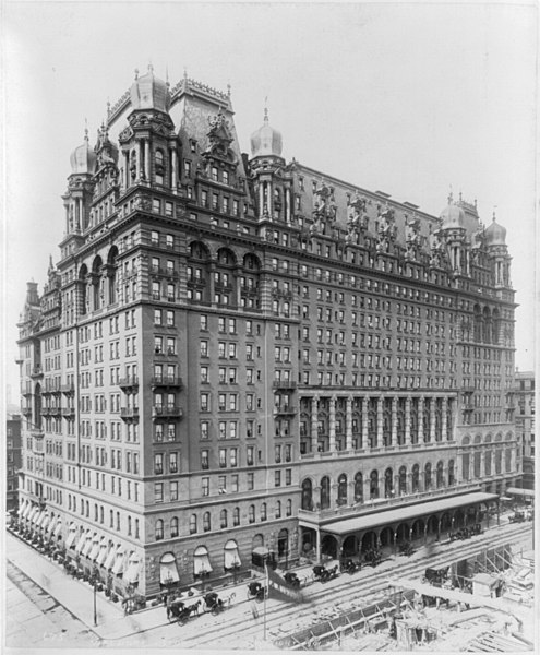 The Waldorf Astoria Hotel in NYC circa 1901