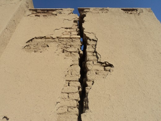 Crack in the wall, building divided against itself cannot stand
