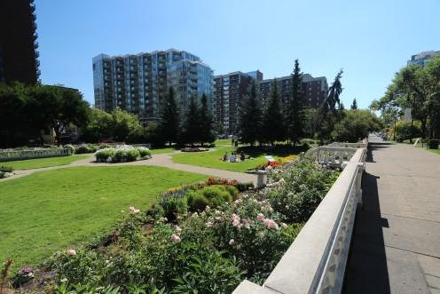 Park in Calgary, next to Lougheed House