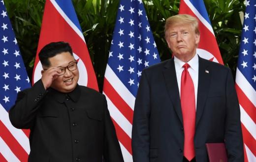 Trump with North Korea's Kim.