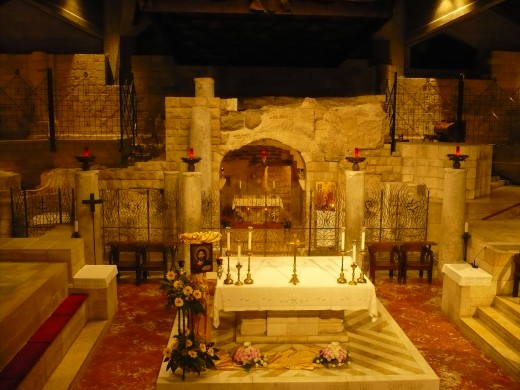 The Crypt, or grotto at the Basilica of the Annunciation