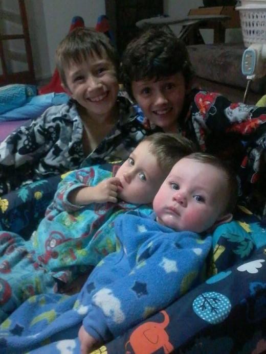 Grand children Ashton, Tim, Dylon and Jordan