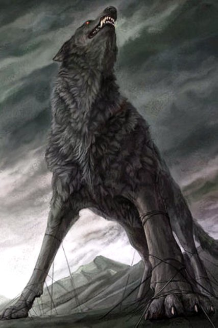 Fenrir the wolf has broken free from his chains and bindings. His duty is to his father, Loki, god of mischief and the underhand