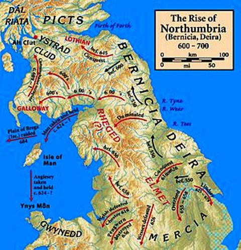 Campaigns of Northumbrian kings within and beyond their own lands
