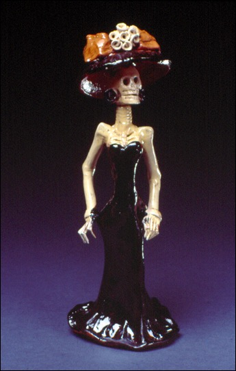 Numerous Catrina figures by lesser known artists may be found at the markets