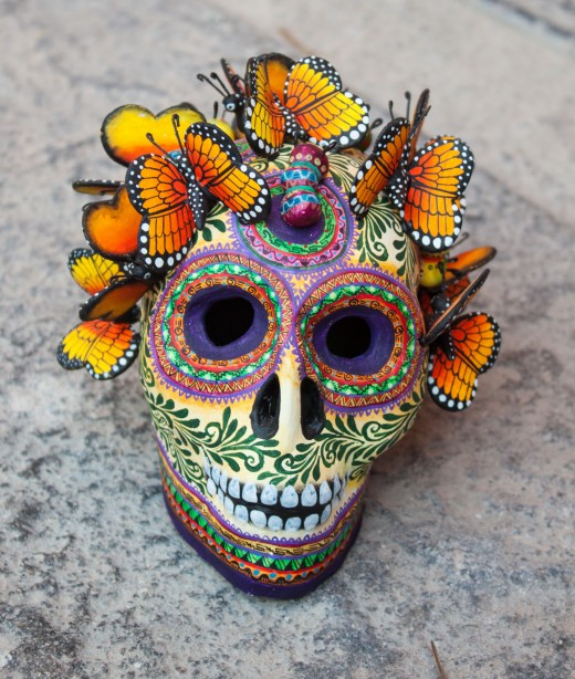 An intricate skull by the Castillo family