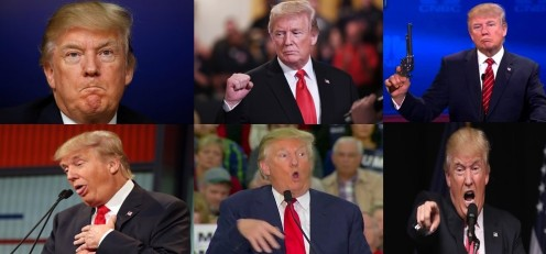 The many faces of Donald J Trump