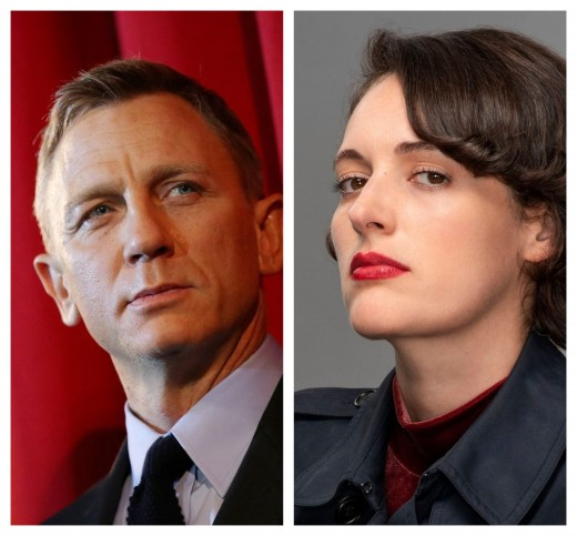 (From left to right): Daniel Craig, and Phoebe Waller-Bridge