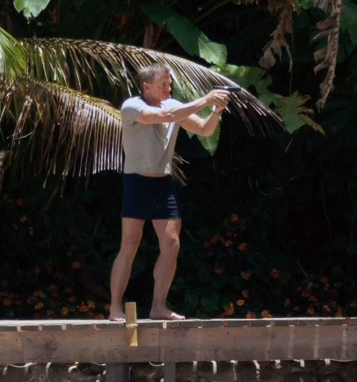 Bond 25: On location with Daniel Craig in action.