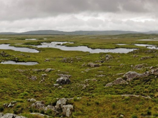 Connemara, Connacht (Connaught), largely unsuitable for agriculture or livestock farming. The ragged coastal lands of the west of Ireland make an ideal backdrop for adventure and horror stories