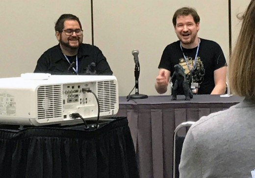 Robert Saucedo and Matt Frank at Comicpalooza 2019.