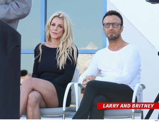 Britney Spears and manager Larry Rudolph