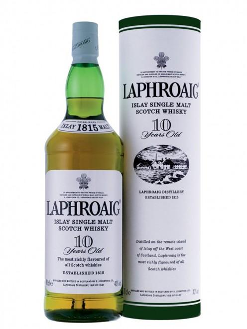 Laphroaig is a popular brand.