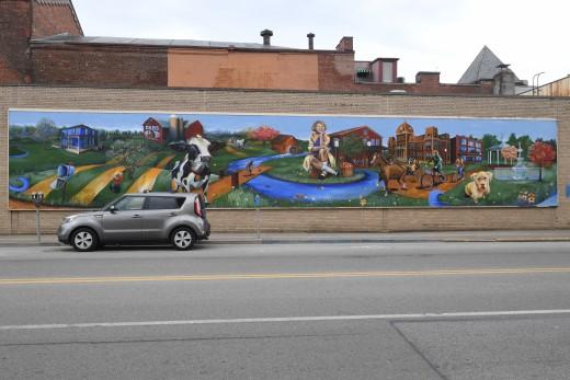 Beautiful artwork in Meadville.