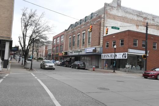 The quaint town of Meadville.