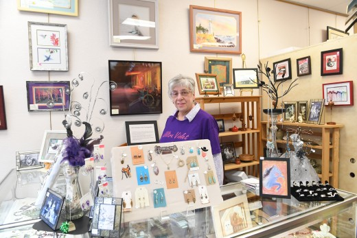 Sandy Cheropovich, owner of Sandy's Art Works.