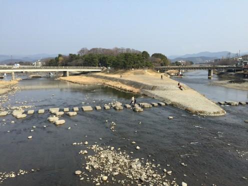 Confluence of Takano and Kamo Rivers