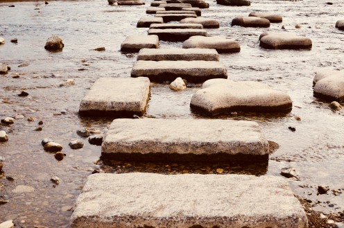 Stone Steps at Kamo River