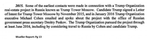 Business with Russia. Mueller Report