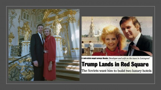1987 Trump at Red Square and Winter Palace