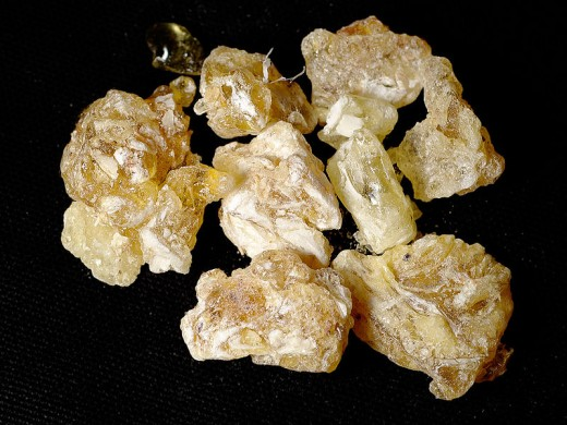 Large lumps of frankincense resin from the Yemen. Photo is in the public domain.