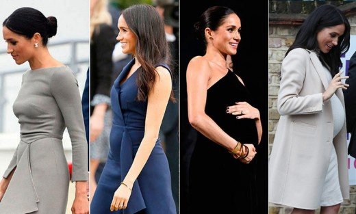 Meghan Markle, Duchess of Sussex, during her pregnancy