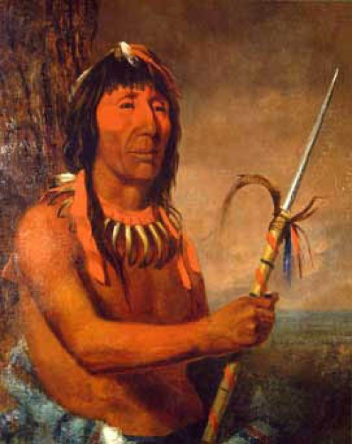 Winnebago Chief Wa-kon-cha-hi-re-ga, 1842 by Charles Deas