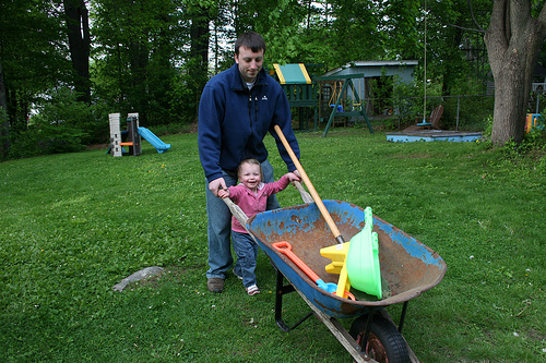 A good wheelbarrow is a gardener's best friend. Photo by abbybatchelder.