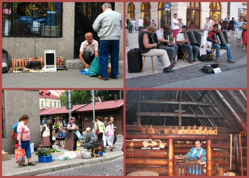 Street vendors. musicians, and small farm shops are great for watching people.