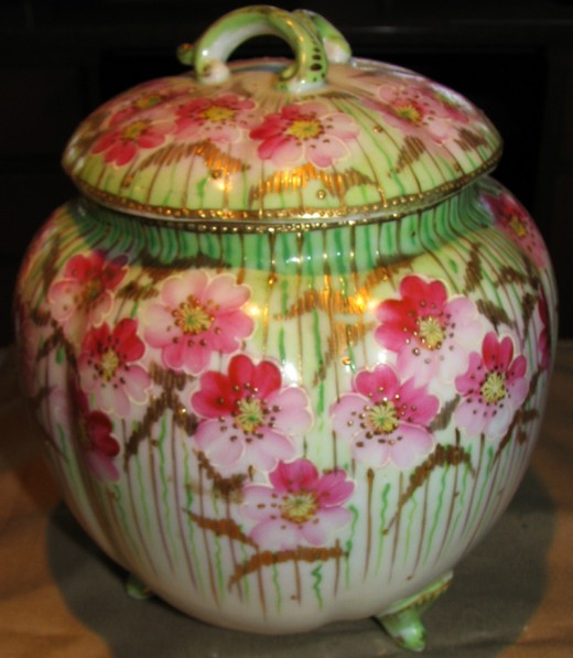 Nippon cherry blossom biscuit jar. Purchased for $15. Sold for $225