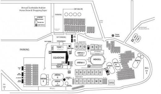 Map of WestWorld in Scottsdale.