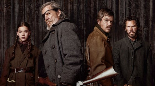 True Grit 2010 cast. Steinfeld, Bridges, Damon, Brolin.