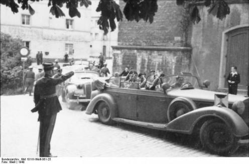 Heinrich Himmler in Luxembourg, 1940