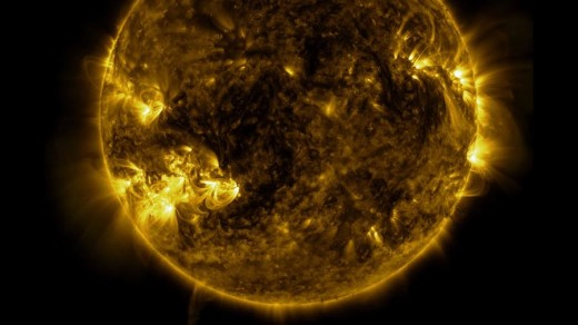 This is a still from a beautiful video shot at the Solar Dynamics Observatory