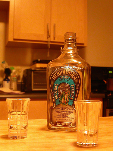 Bottled tequila - Photo by johnmarkos on Flickr.com under Creative Commons License