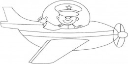 Uniformed Occupations Kids Coloring Pages Colouring Pictures to Print - the pilot