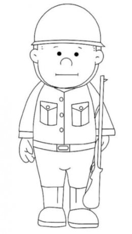 Uniformed Occupations Kids Coloring Pages Colouring Pictures to Print  - the soldier