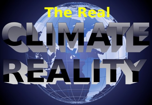 """""""The Real Climate Reality"""" banner created by Robert G Kernodle"""