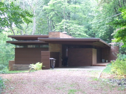 Goetsch-Winkler House, Okemos, a local Wright designed treasure and strongly akin to his Prairie Style homes