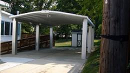 Free standing metal carport