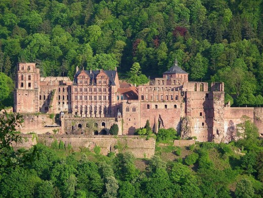 The original Heidelberg Castle...few more trees!