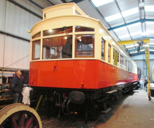 At Embsay, in a large workshop by the station is the NER 1903 Autocar, one of two built, (the other went for scrap between the wars), restored over ten years with private donations from many, and with major input from the Heritage Lottery Fund