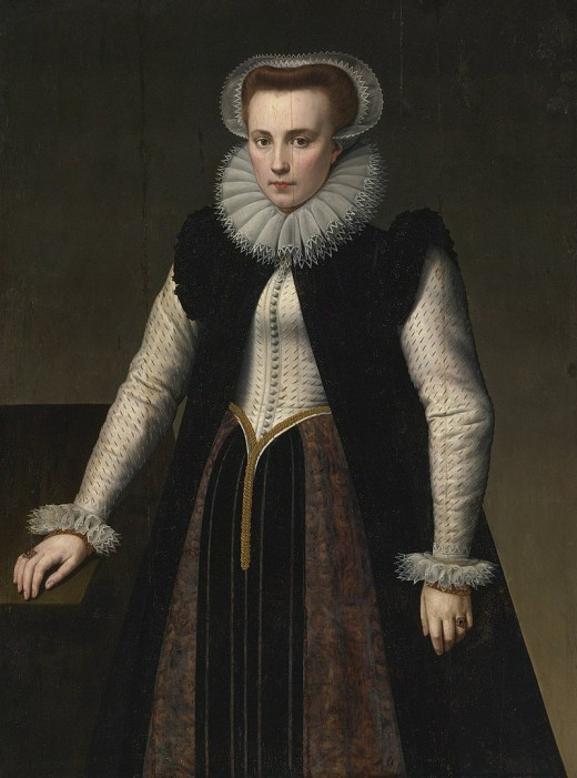 Painting by Anthonie Blocklandt van Montfoort (1580) is believed to be a portrait of the notorious Countess Elizabeth Báthory.