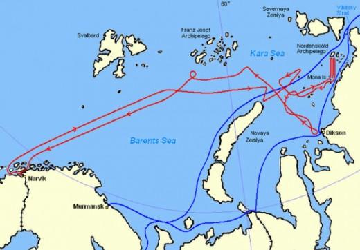 The Arctic adventure in seas not traveled
